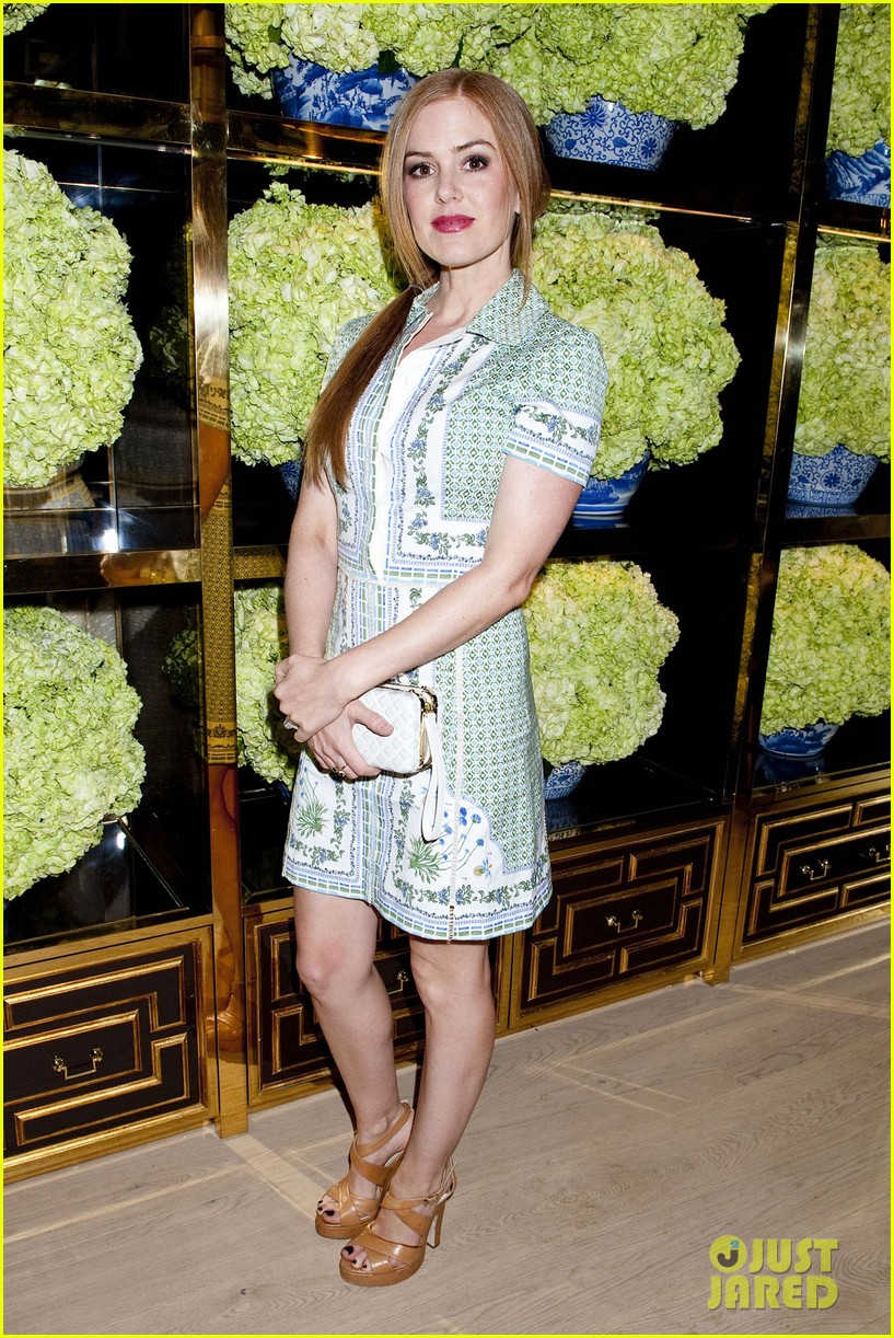 isla fisher ahna oreilly tory burch flagship store opening 013031758