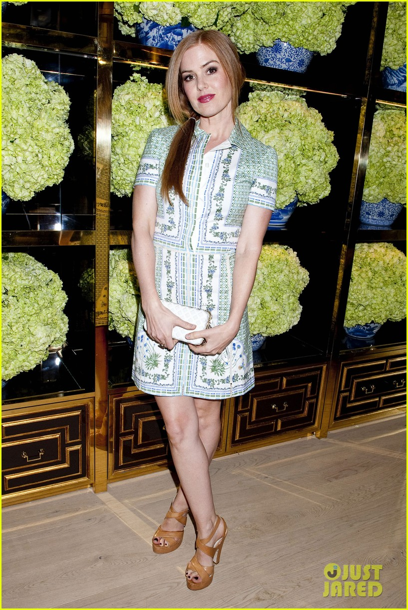 isla fisher ahna oreilly tory burch flagship store opening 183031775