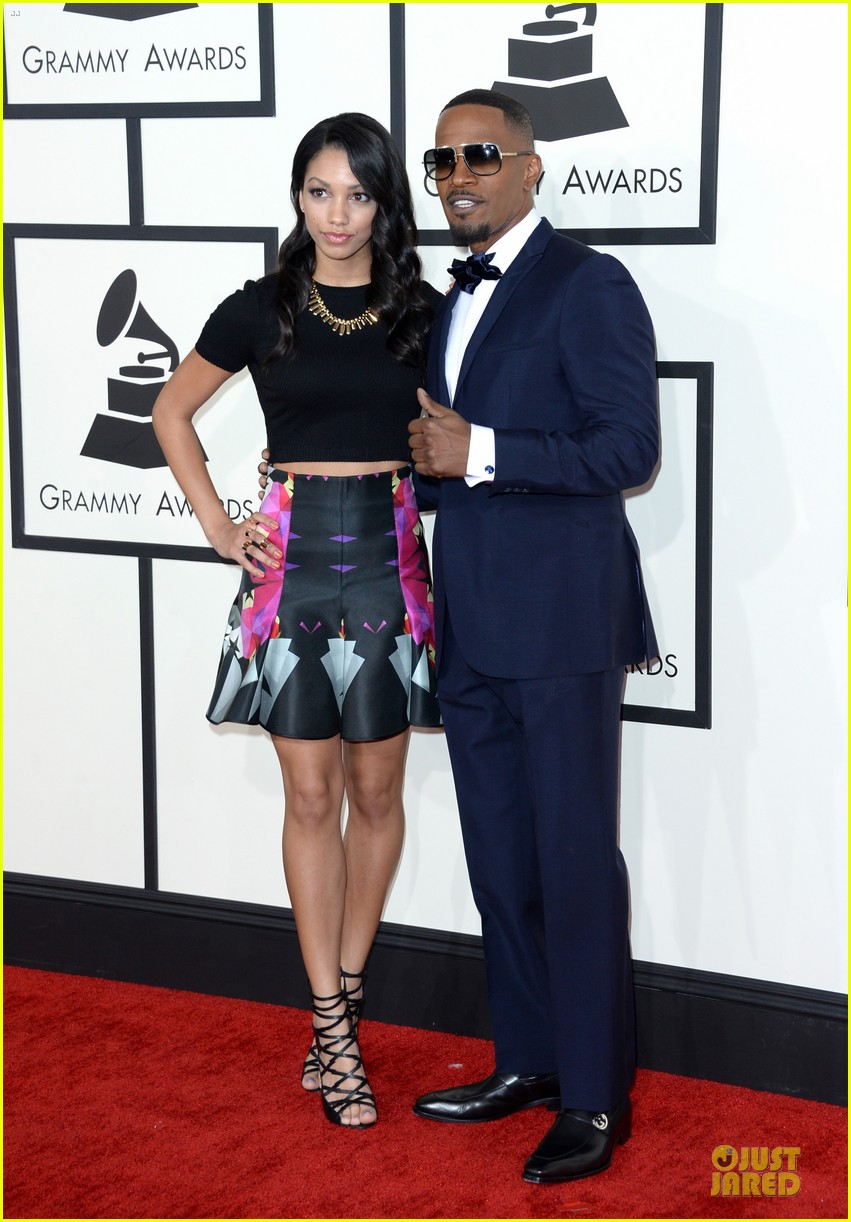jamie foxx mack wilds grammys 2014 red carpet 013041309