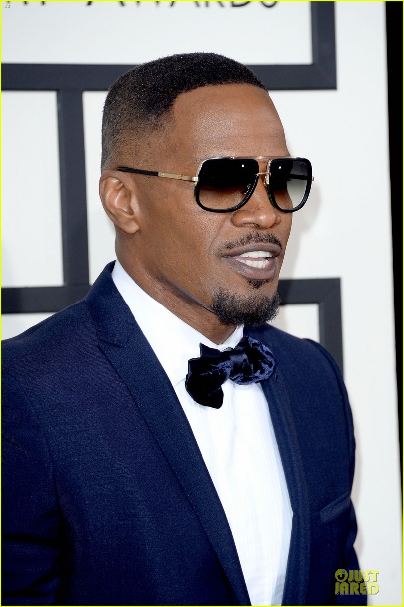 jamie foxx mack wilds grammys 2014 red carpet 023041310