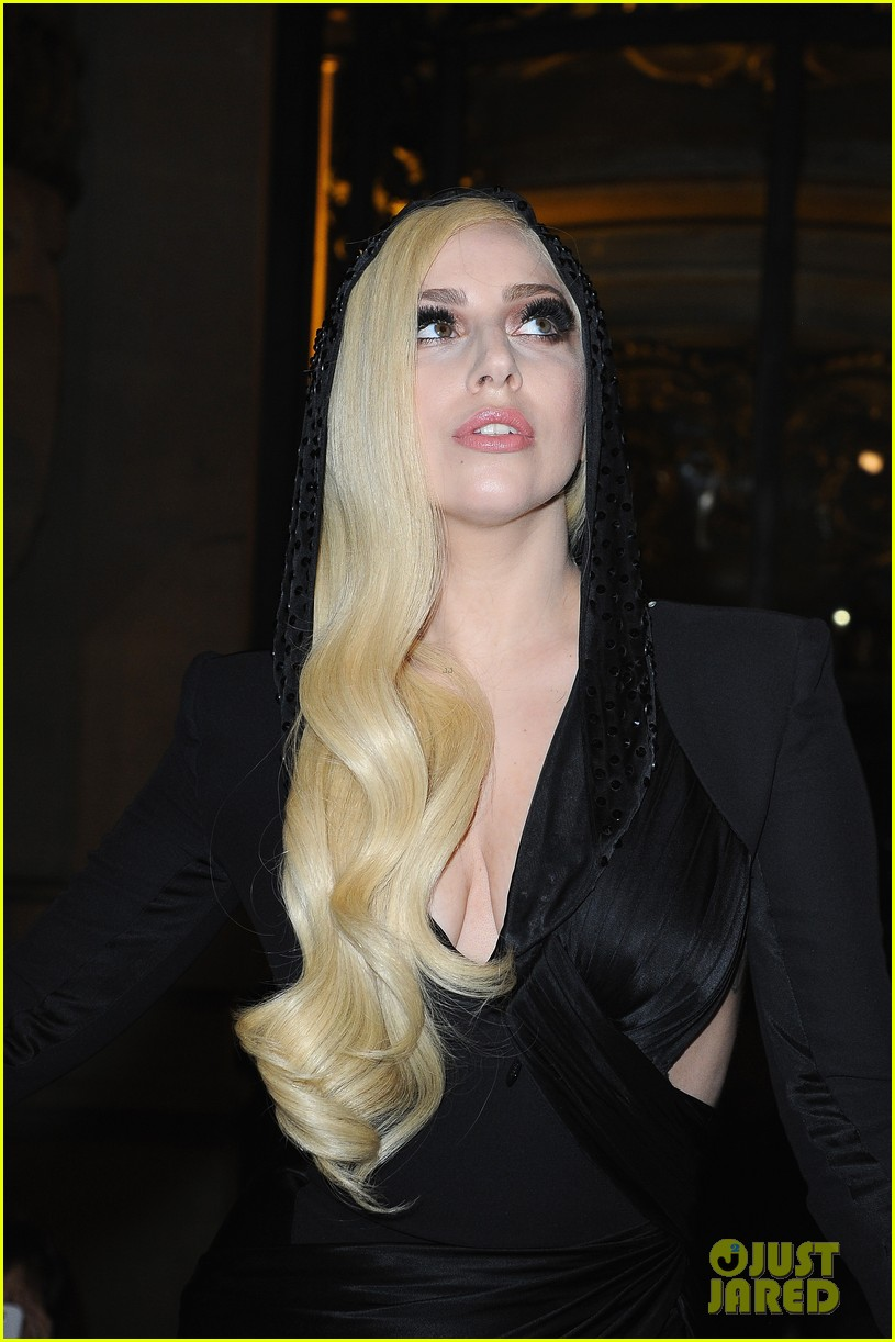 lady gaga front row at atelier versace paris show 083035491