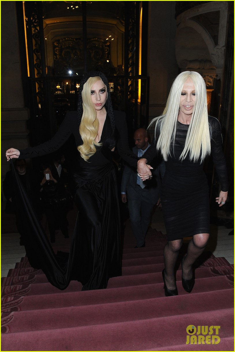 lady gaga front row at atelier versace paris show 093035492