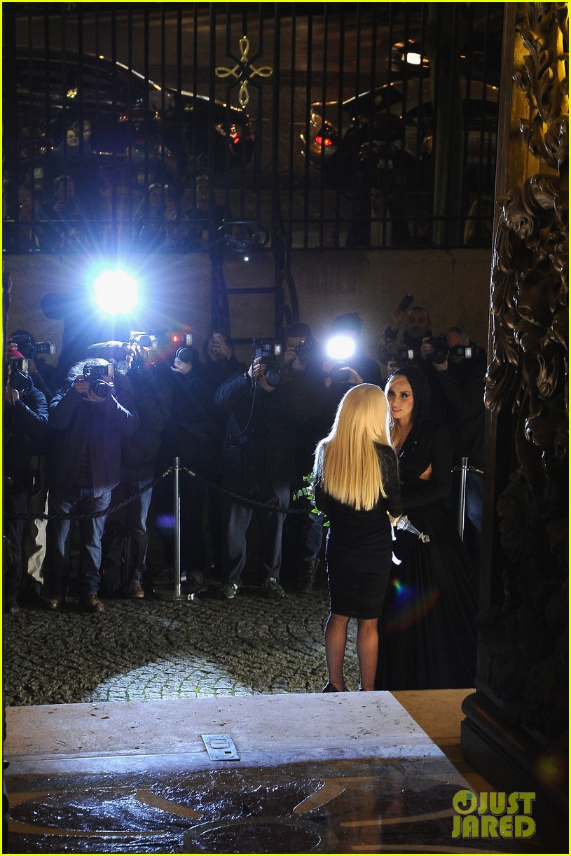 lady gaga front row at atelier versace paris show 133035496