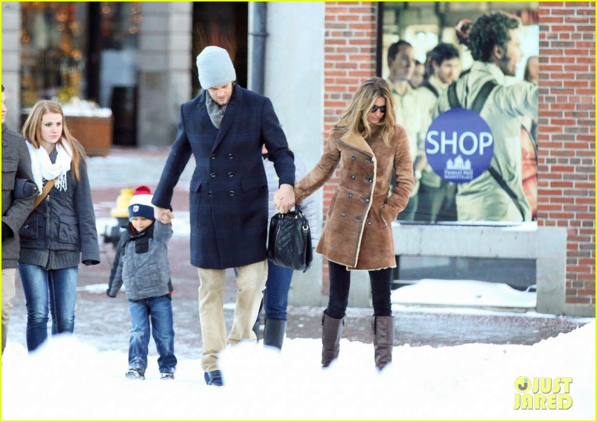 gisele bundchen tom brady boston fun with benjamin 013023030