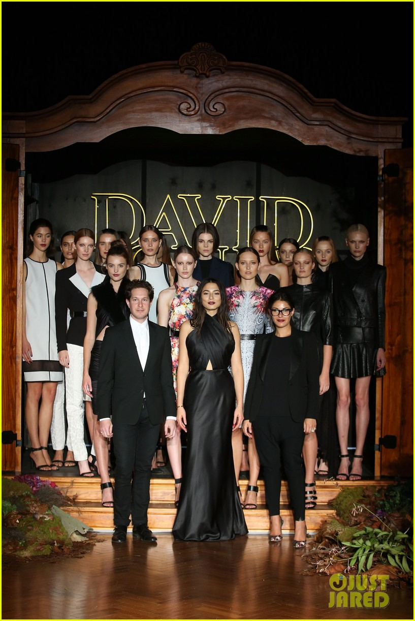 jessica gomes hits the runway for david jones collection launch 153044078