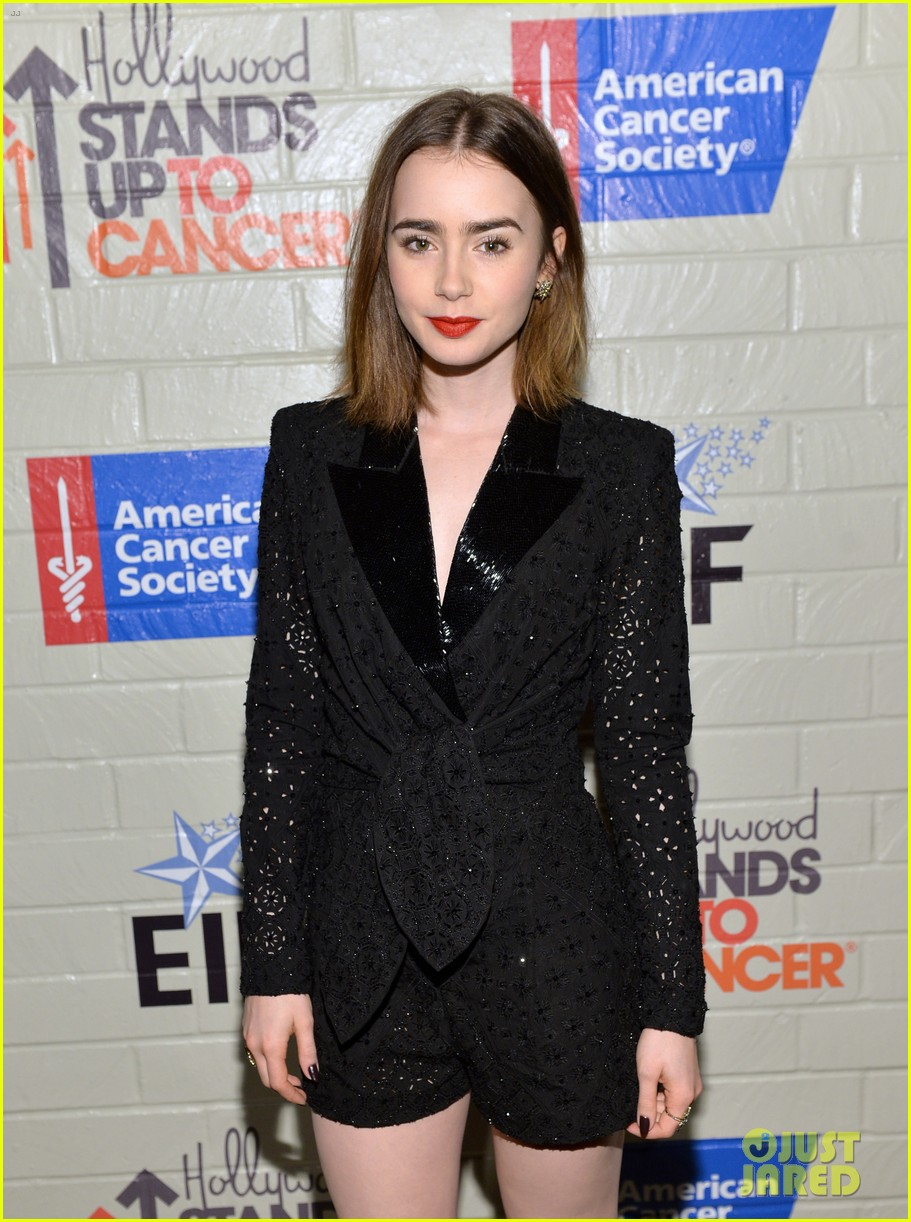 selena gomez lily collins help hollywood stand up to cancer 17