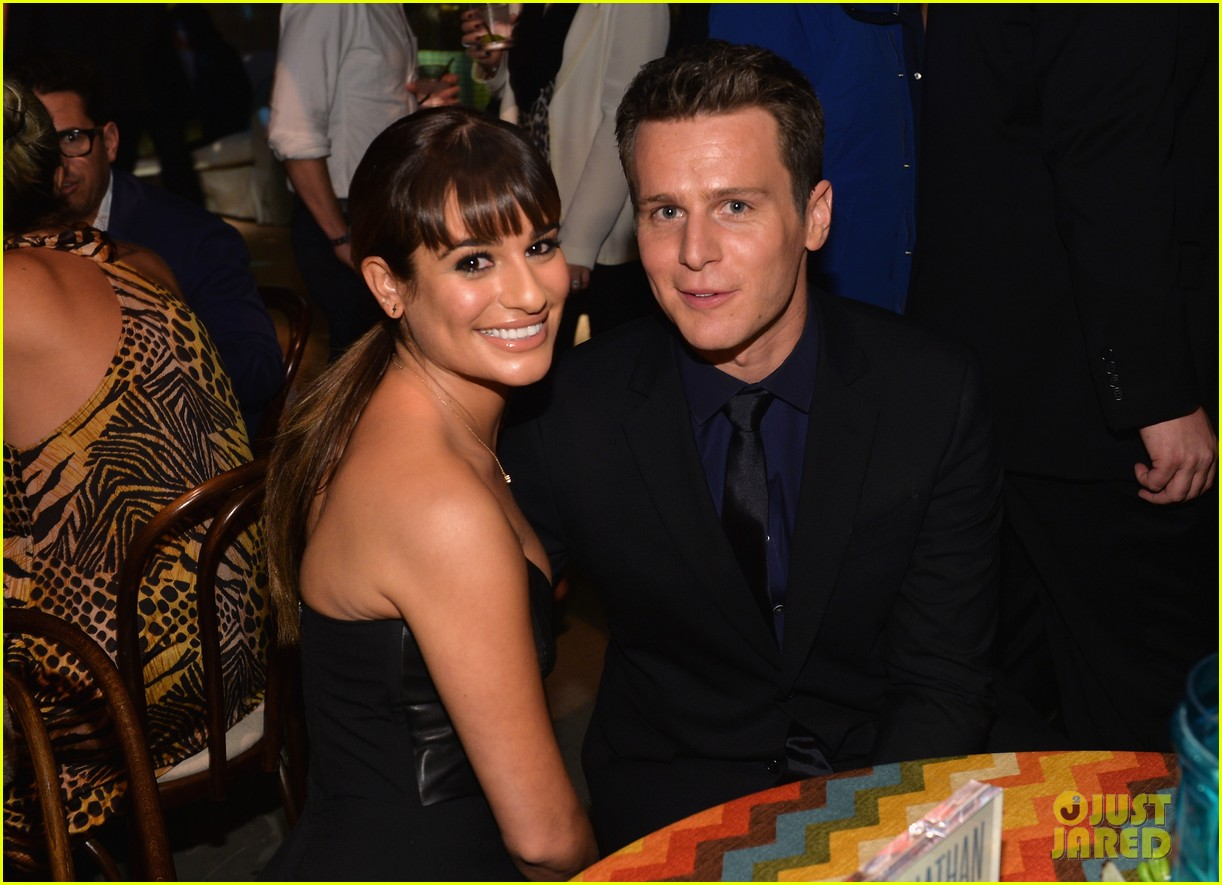 jonathan groff lea michele looking hollywood premiere 043032466