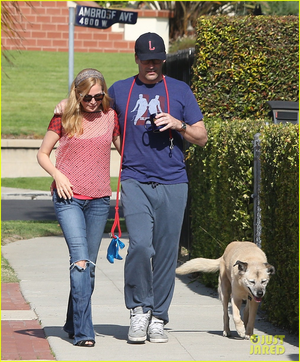 jon hamm stays comfy in sweatpants for morning dog walk 013038619
