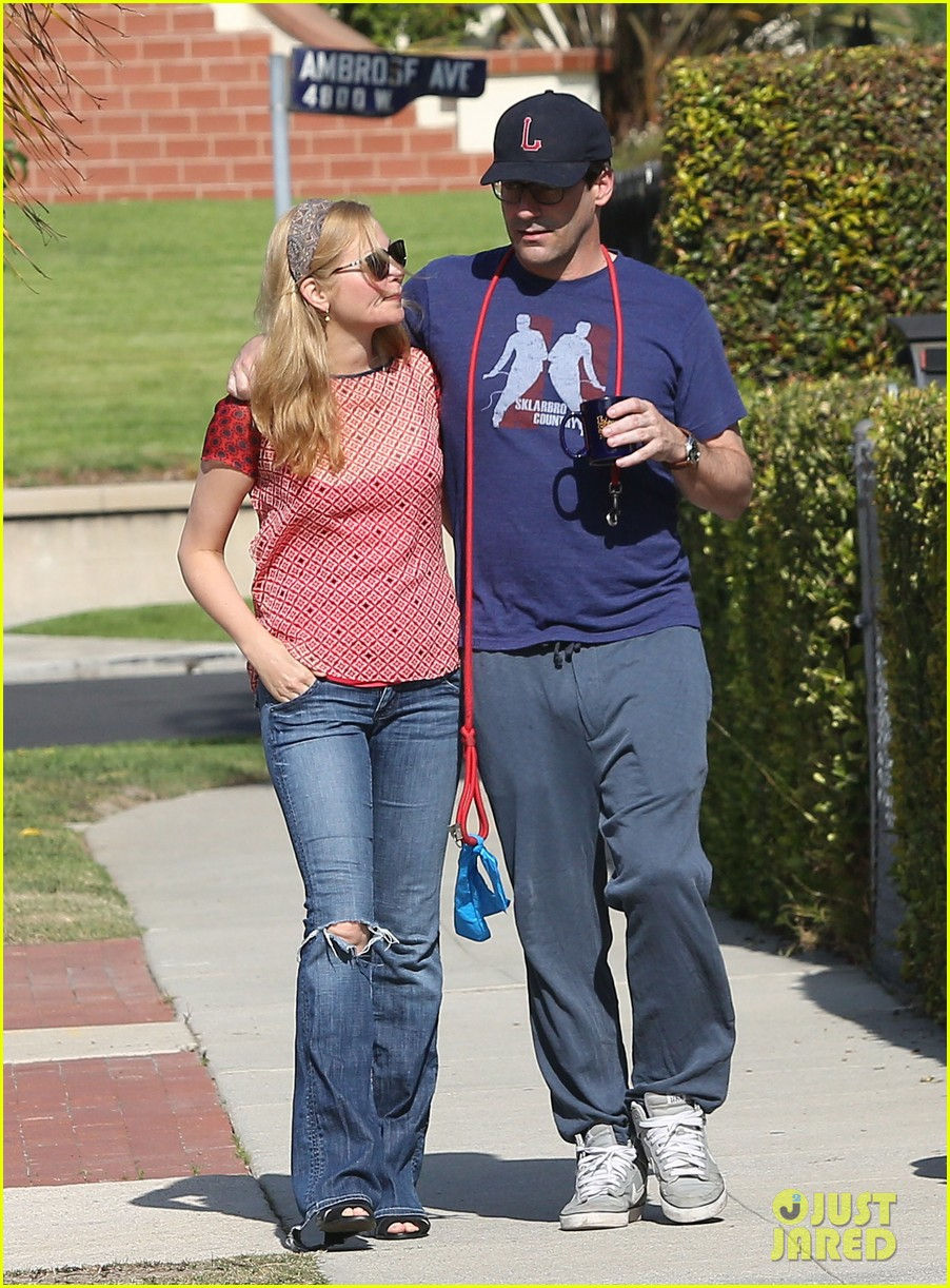 jon hamm stays comfy in sweatpants for morning dog walk 083038626