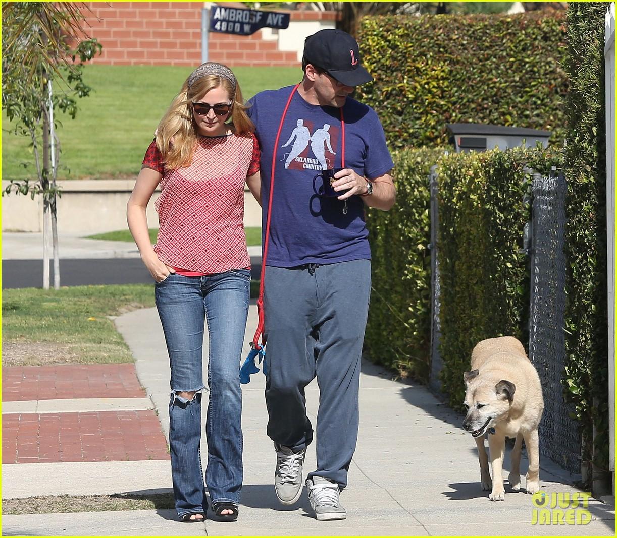jon hamm stays comfy in sweatpants for morning dog walk 093038627