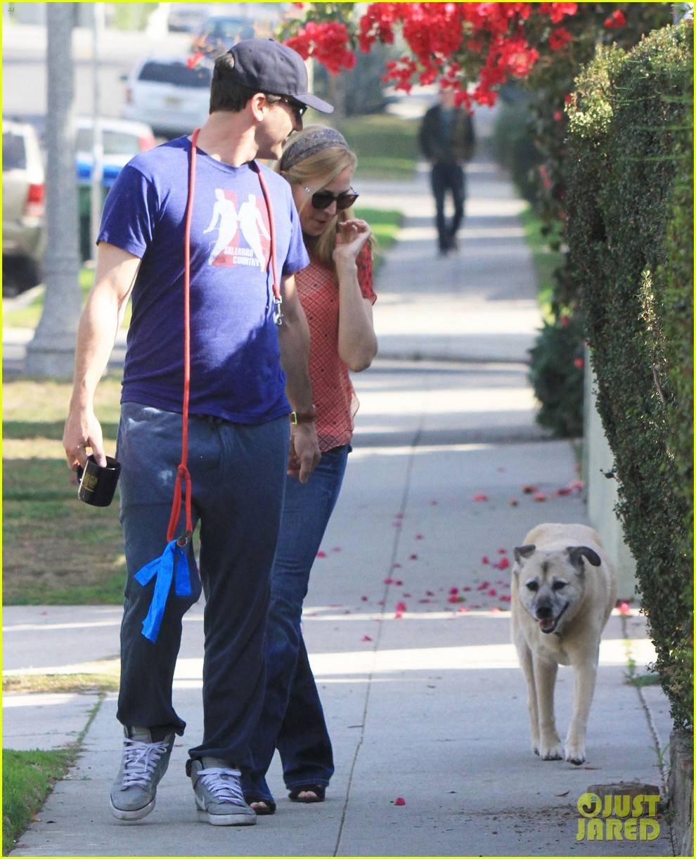 jon hamm stays comfy in sweatpants for morning dog walk 213038639