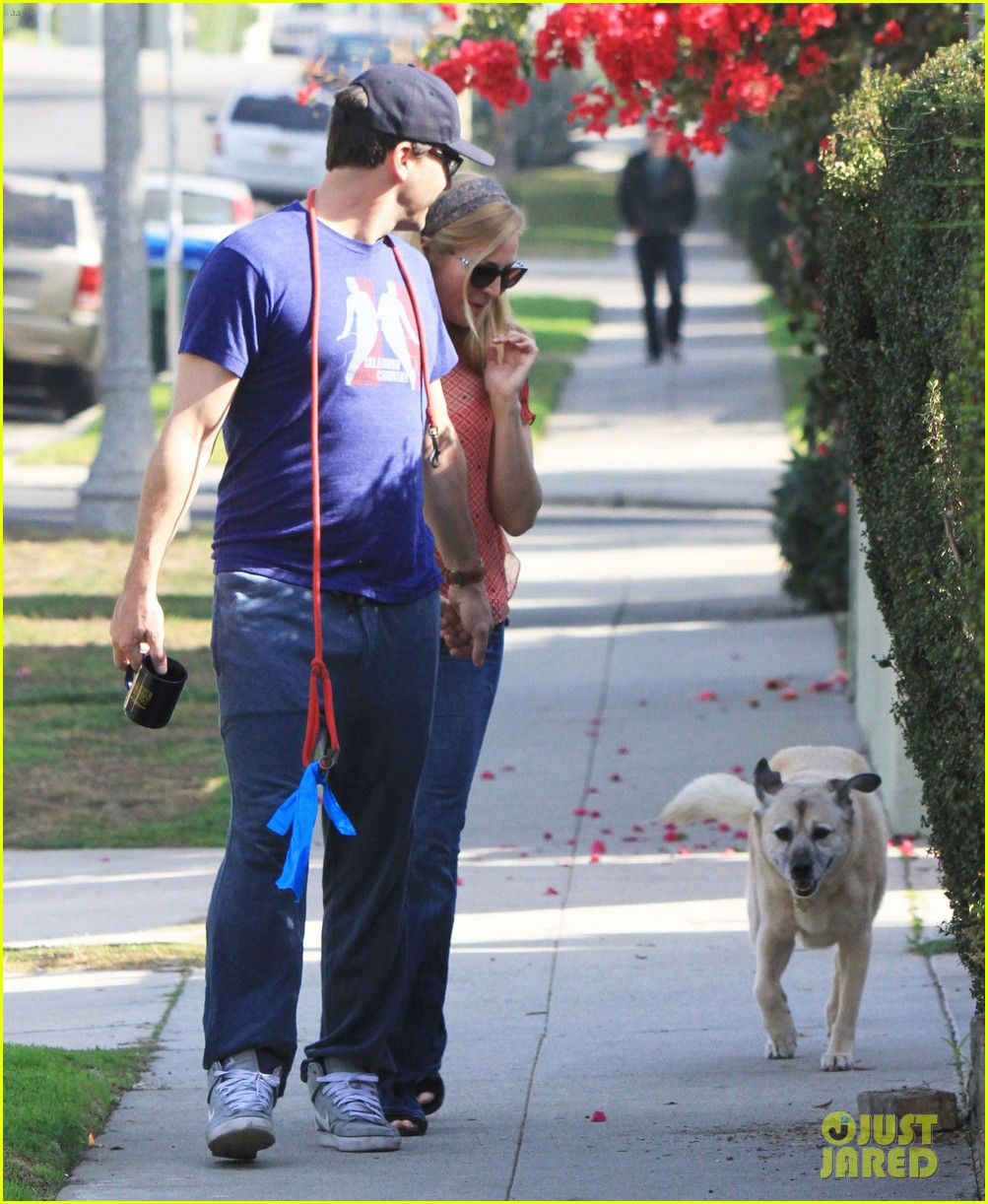 jon hamm stays comfy in sweatpants for morning dog walk 223038640