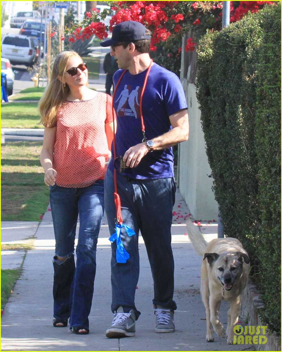 jon hamm stays comfy in sweatpants for morning dog walk 233038641