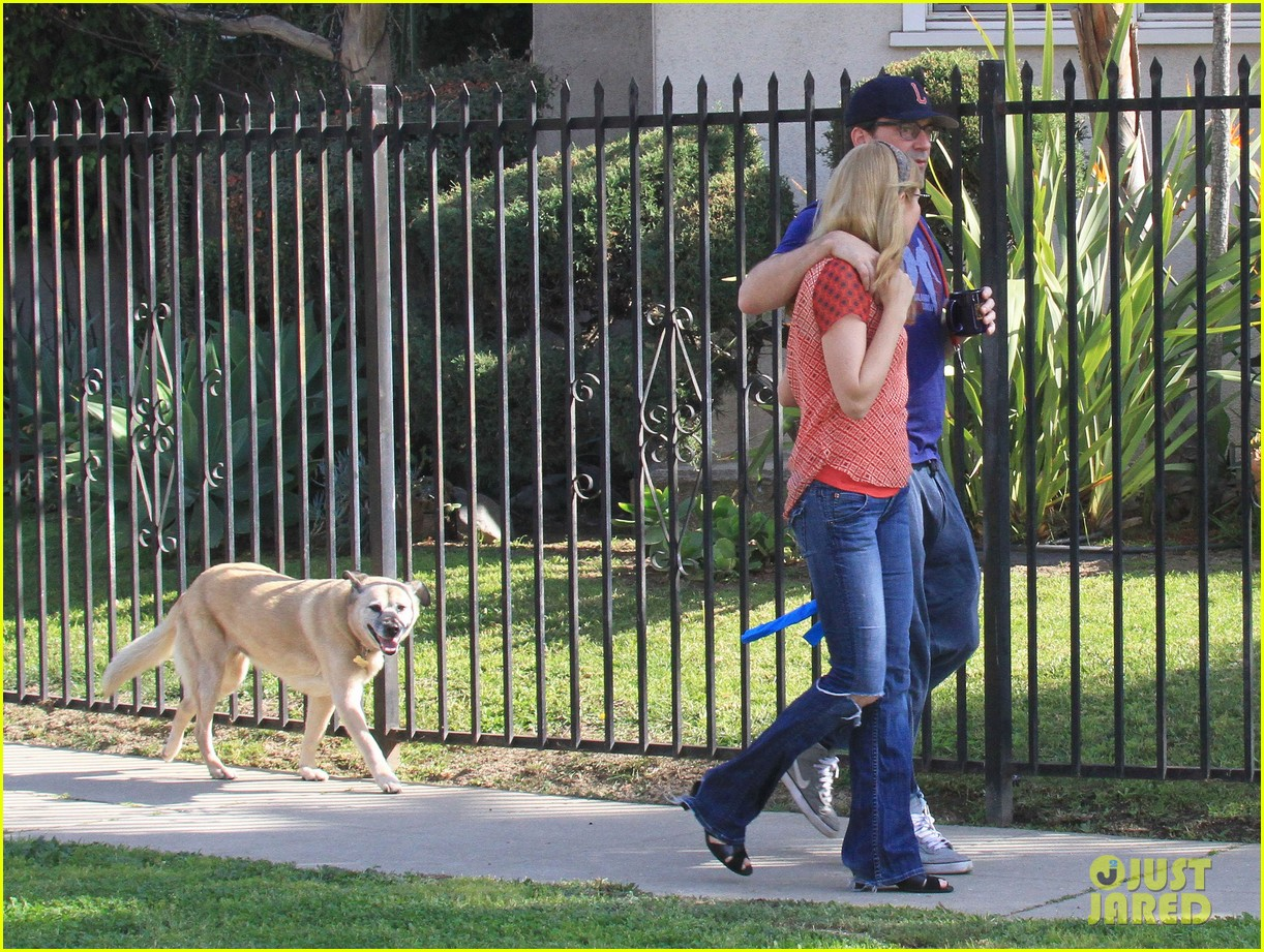jon hamm stays comfy in sweatpants for morning dog walk 273038645