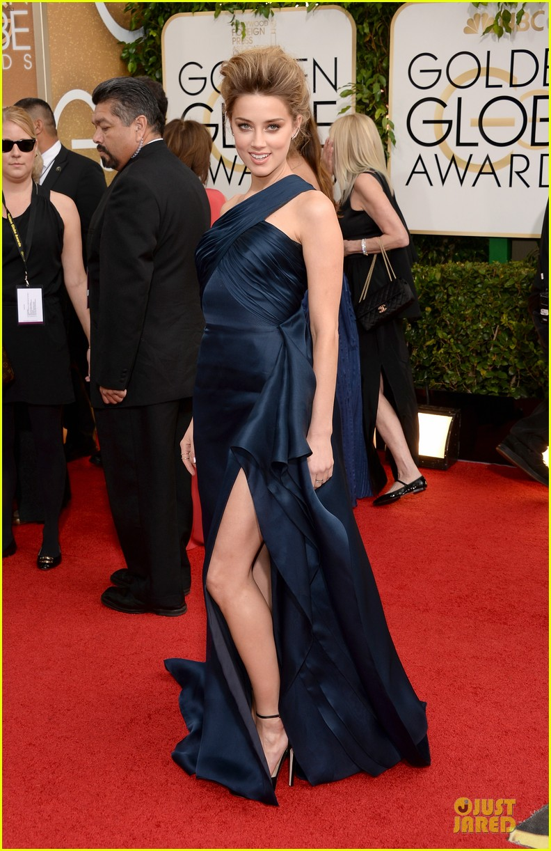amber heard golden globes 2014 red carpet 07