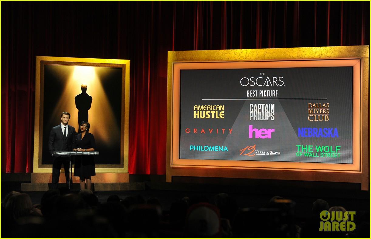 chris hemsworth announces oscar nominations 2014 023032531