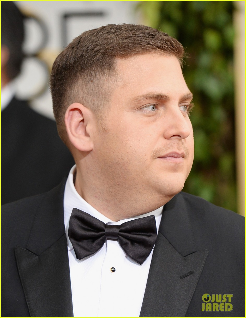 jonah hill golden globes 2014 red carpet 033029569
