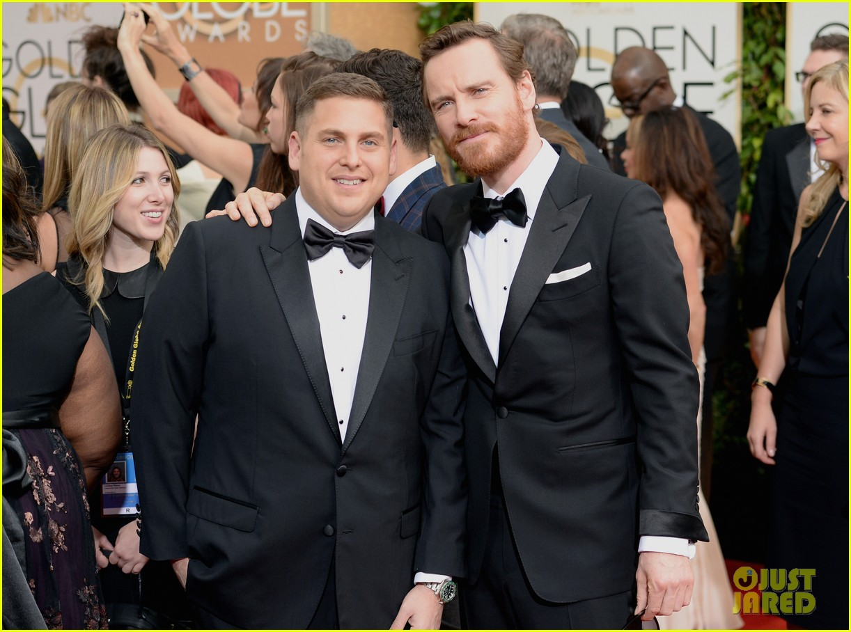 jonah hill golden globes 2014 red carpet 053029571