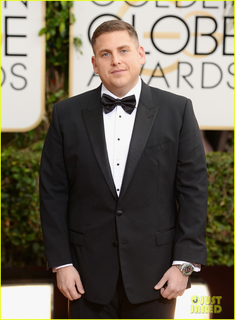jonah hill golden globes 2014 red carpet 063029572