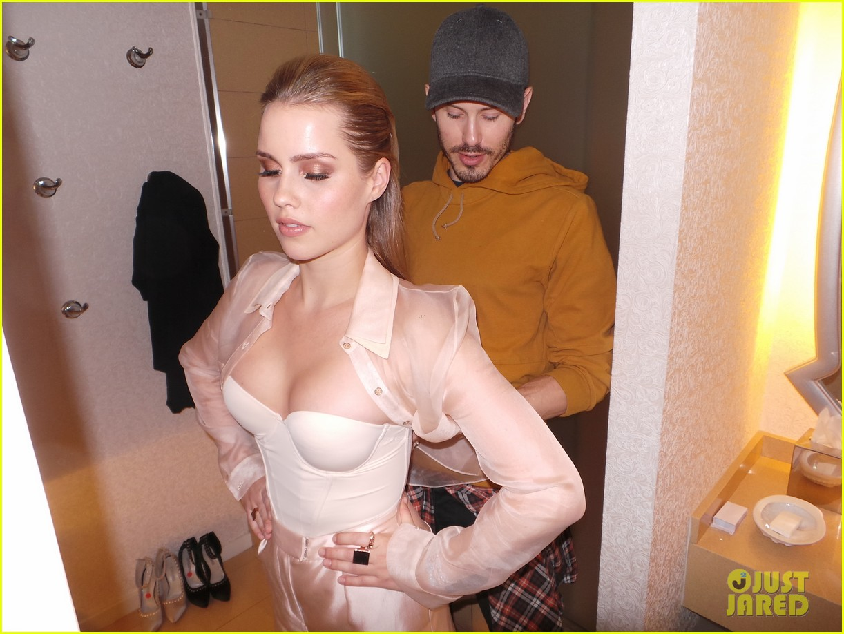 claire holt jj spotlight behind the scenes pics exclusive 07
