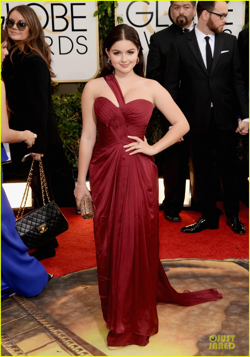 sarah hyland ariel winter golden globes 2014 red carpet 053029175