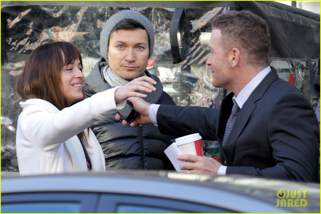 dakota johnson shoots fifty shades scenes with max martini 103033154