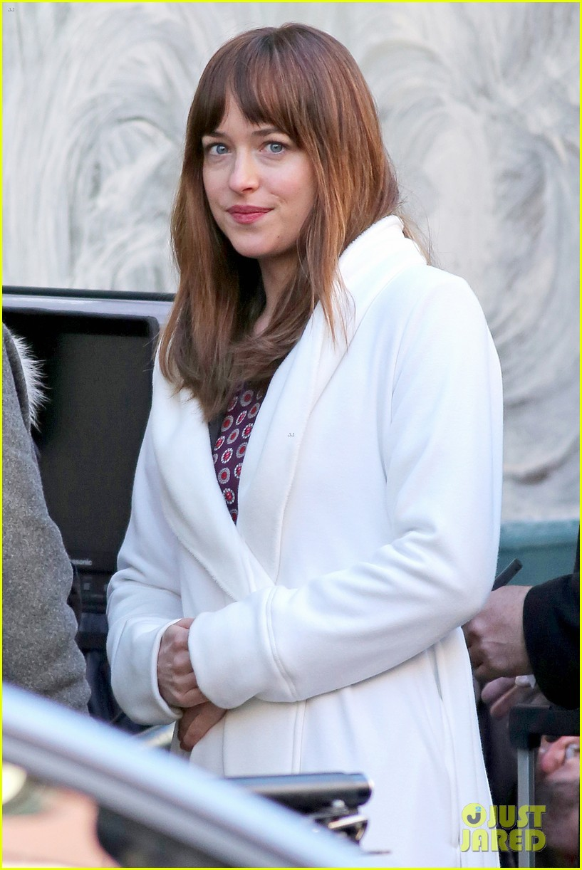 dakota johnson shoots fifty shades scenes with max martini 113033155
