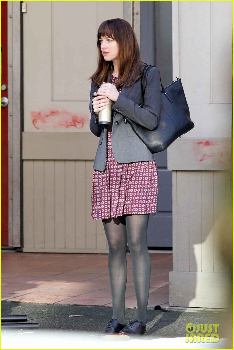 dakota johnson shoots fifty shades scenes with max martini 143033158
