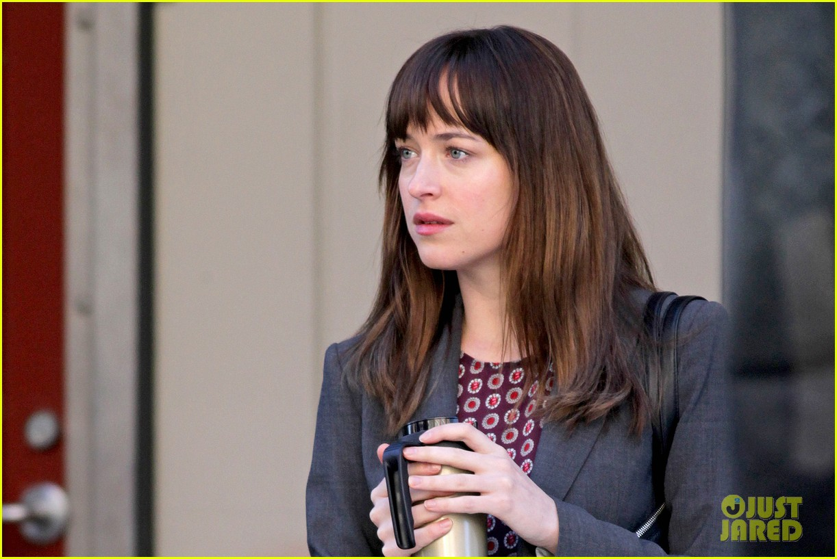 dakota johnson shoots fifty shades scenes with max martini 243033168
