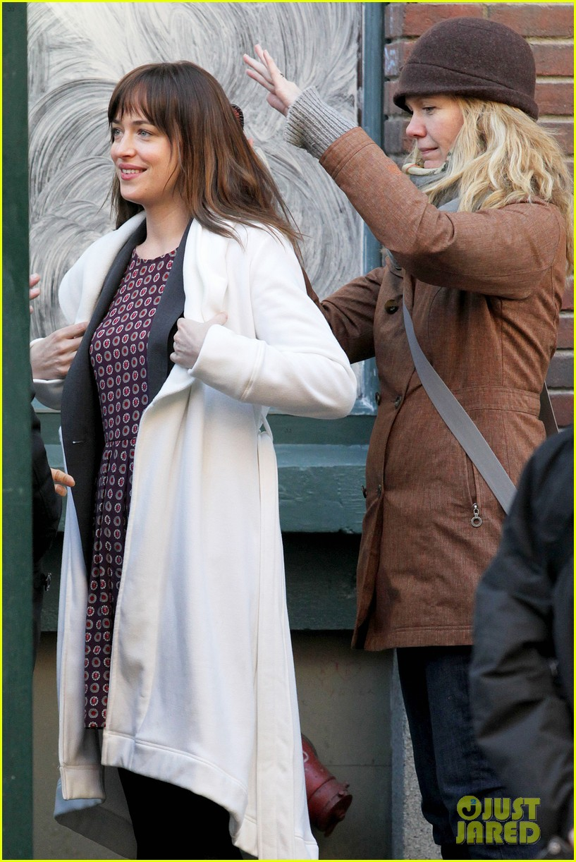 dakota johnson shoots fifty shades scenes with max martini 283033172