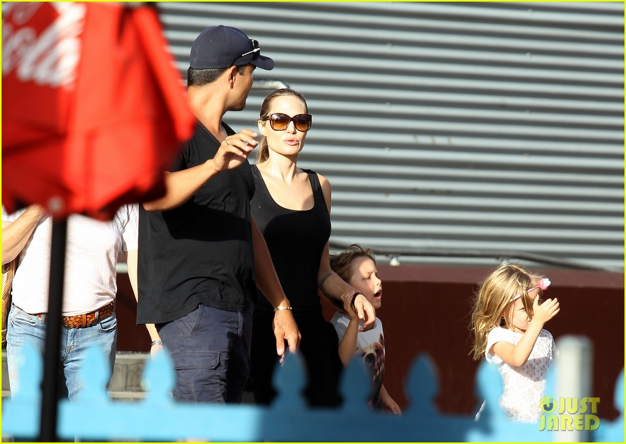 angelina jolie luna park fun with the kids 093024382