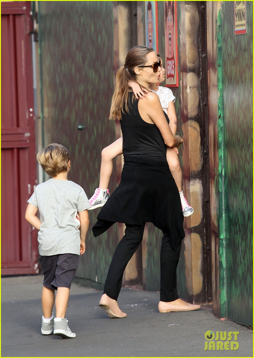 angelina jolie luna park fun with the kids 153024388