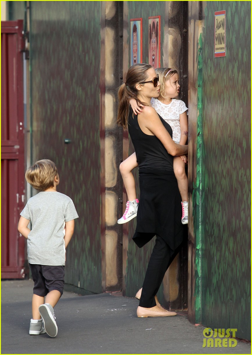angelina jolie luna park fun with the kids 173024390