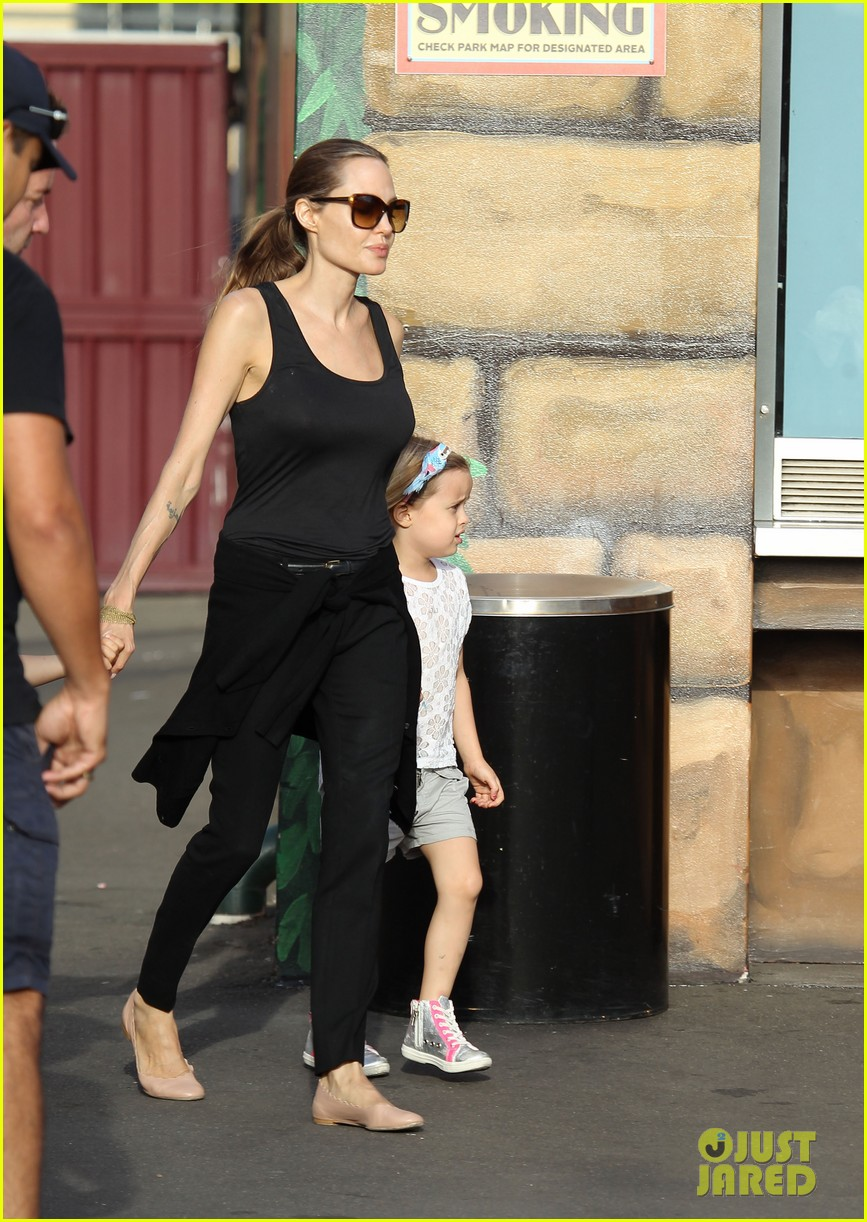 angelina jolie luna park fun with the kids 183024391