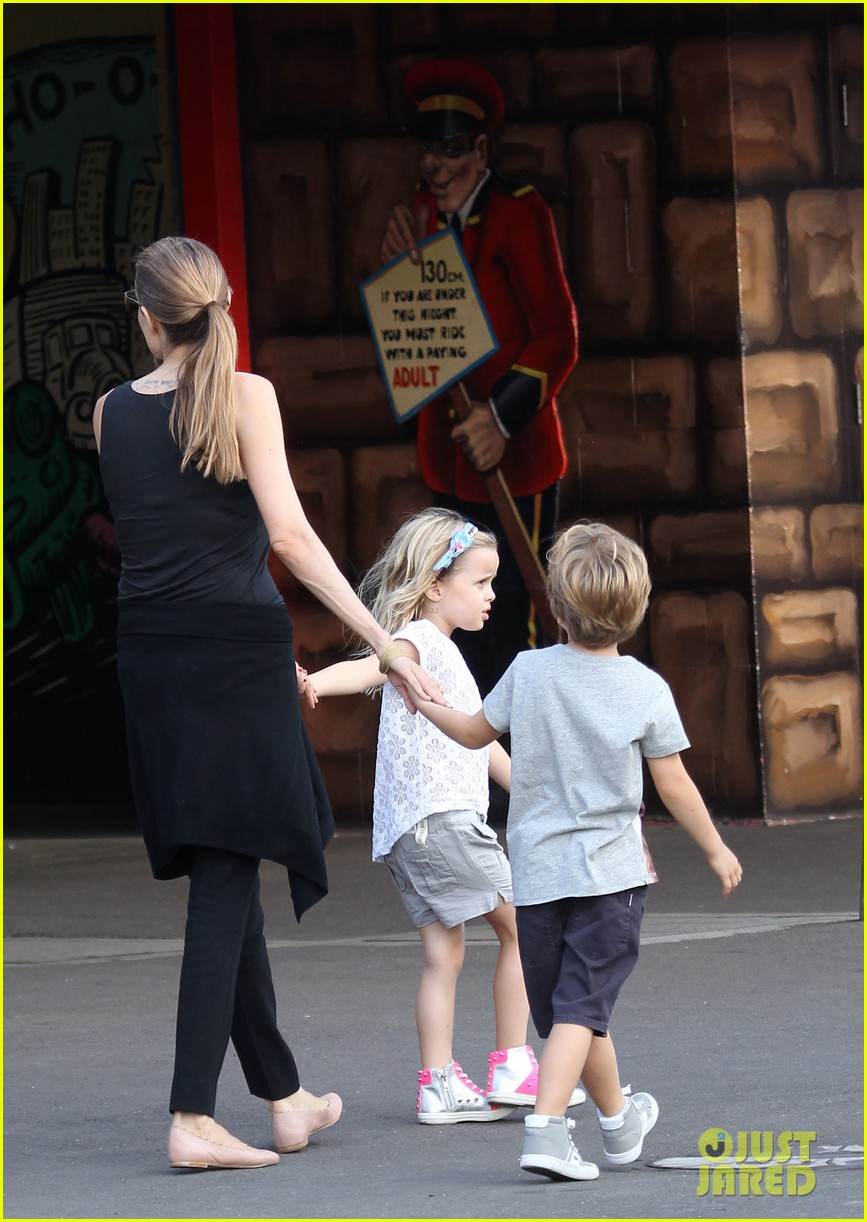 angelina jolie luna park fun with the kids 223024395