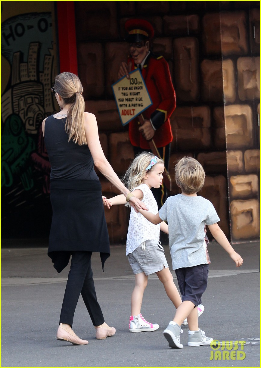 angelina jolie luna park fun with the kids 233024396