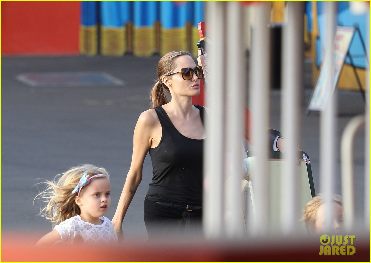 angelina jolie luna park fun with the kids 253024398