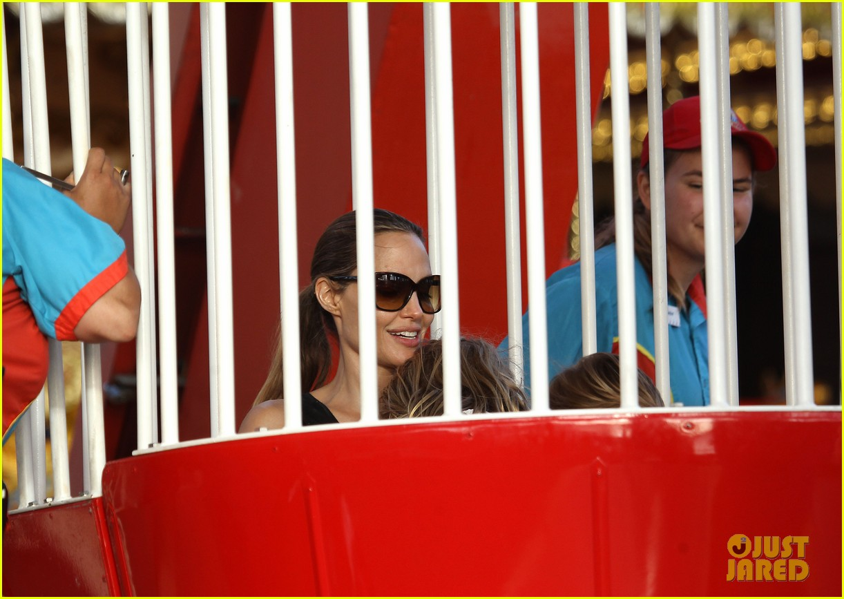 angelina jolie luna park fun with the kids 303024403