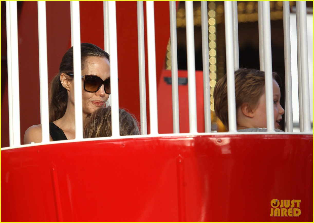 angelina jolie luna park fun with the kids 313024404