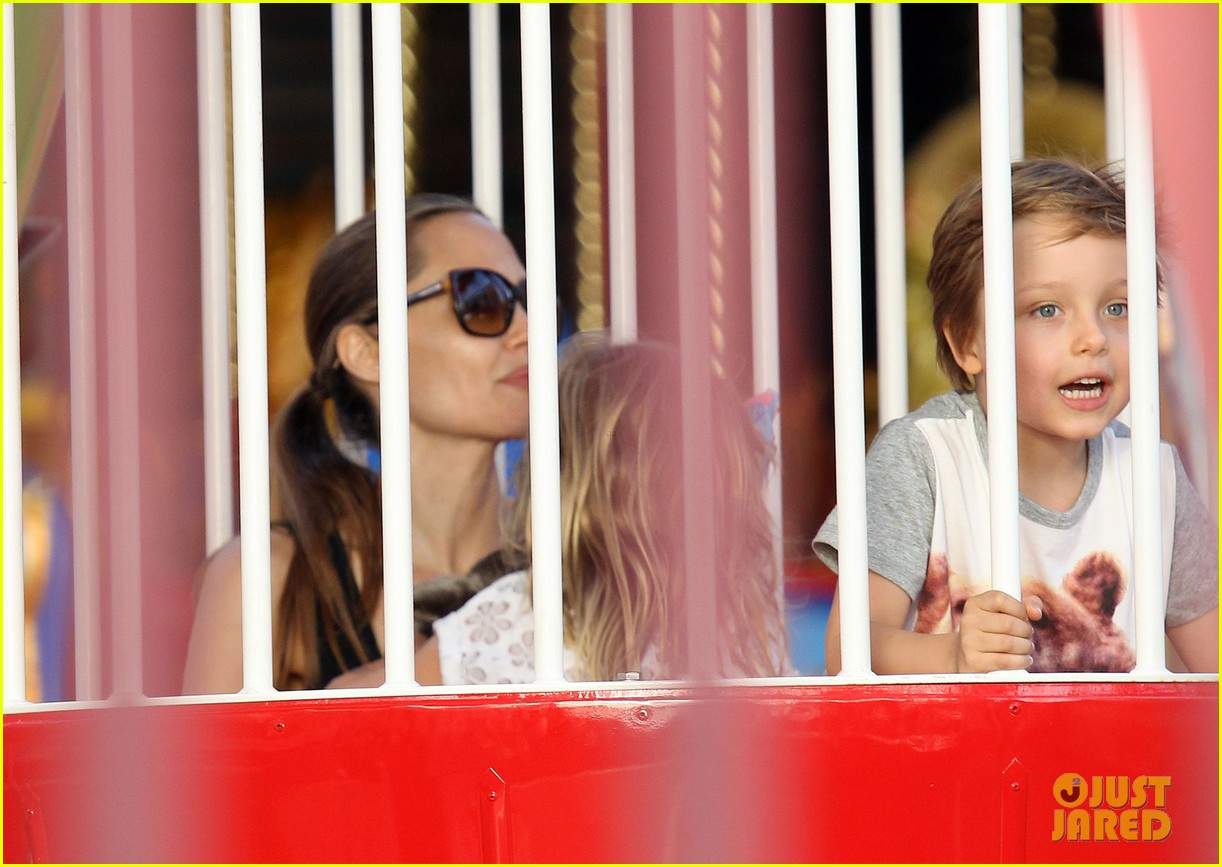 angelina jolie luna park fun with the kids 333024406