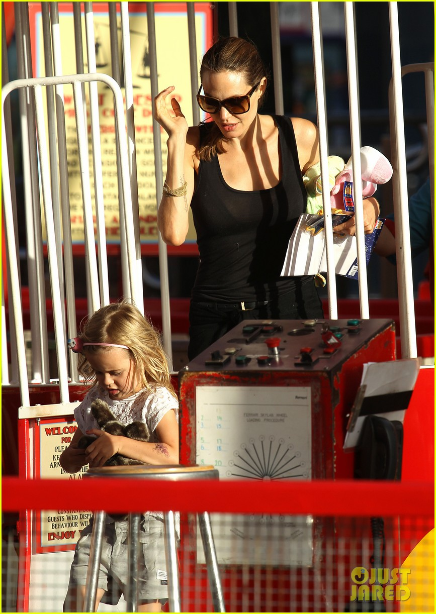 angelina jolie luna park fun with the kids 383024411