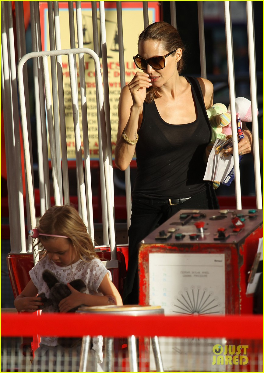 angelina jolie luna park fun with the kids 403024413