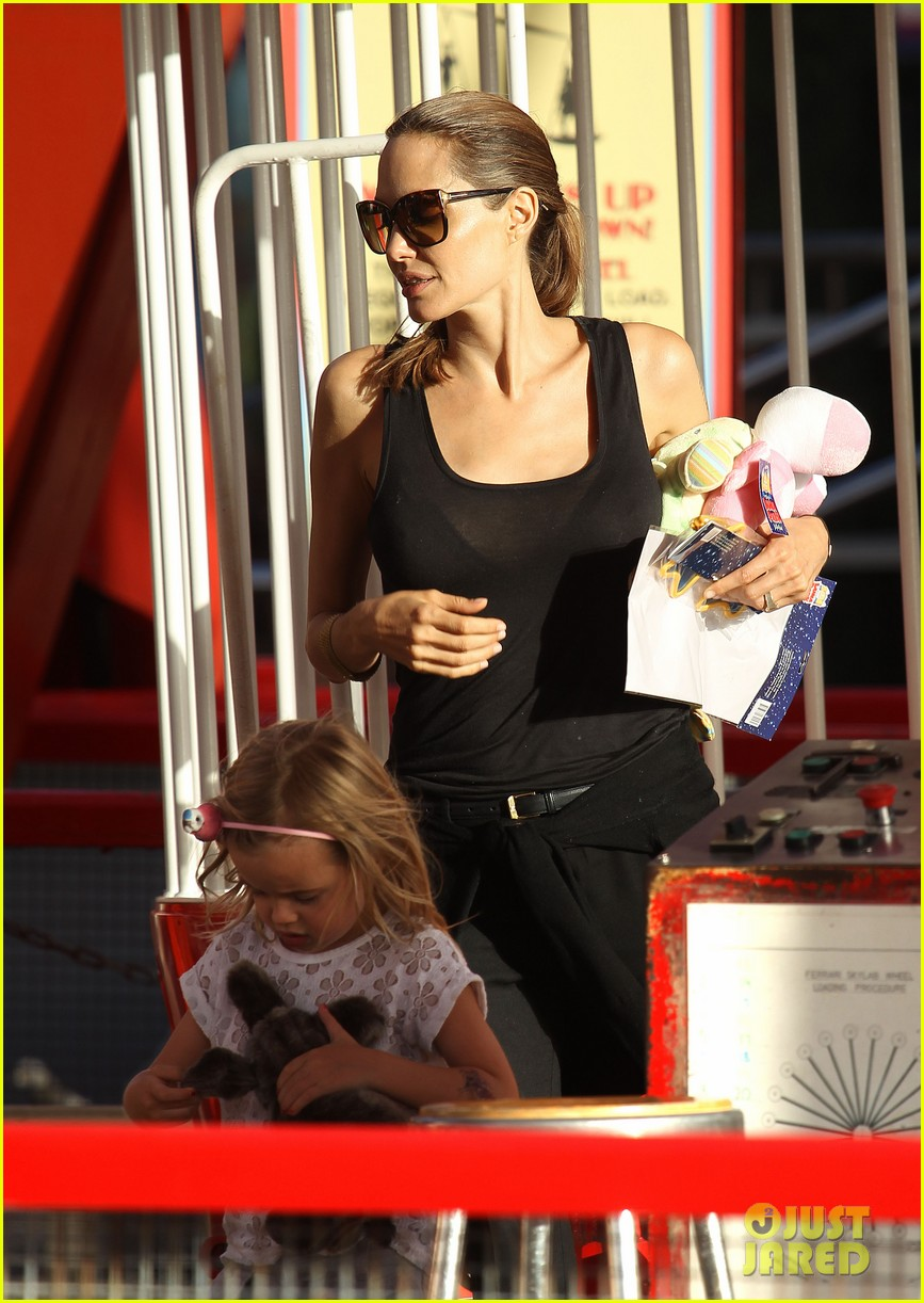 angelina jolie luna park fun with the kids 413024414