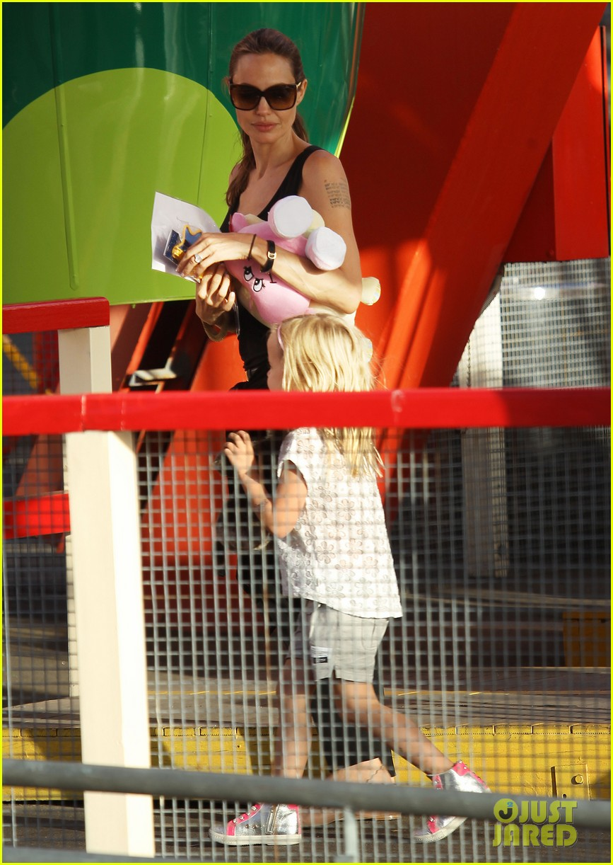 angelina jolie luna park fun with the kids 433024416