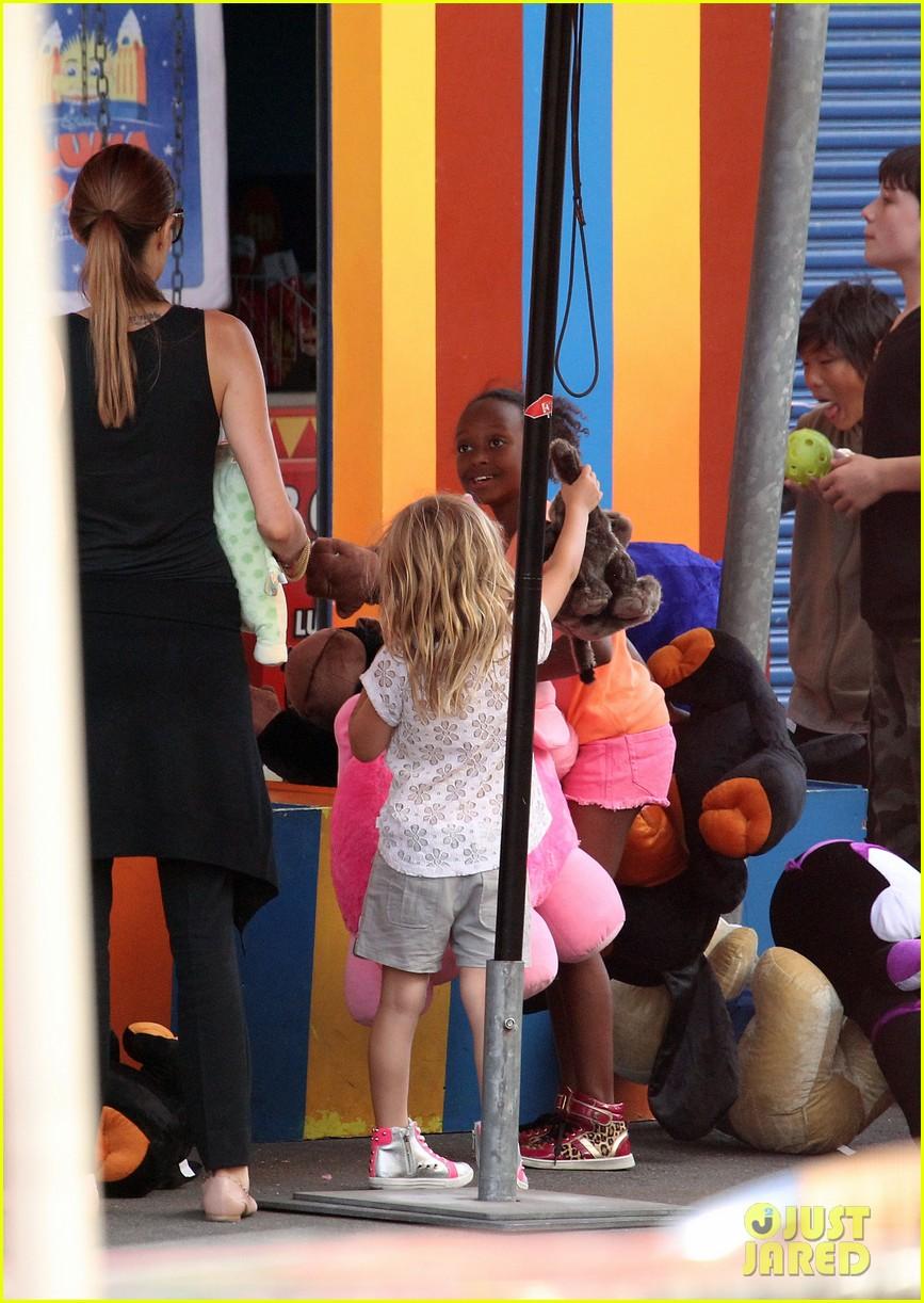 angelina jolie luna park fun with the kids 483024421