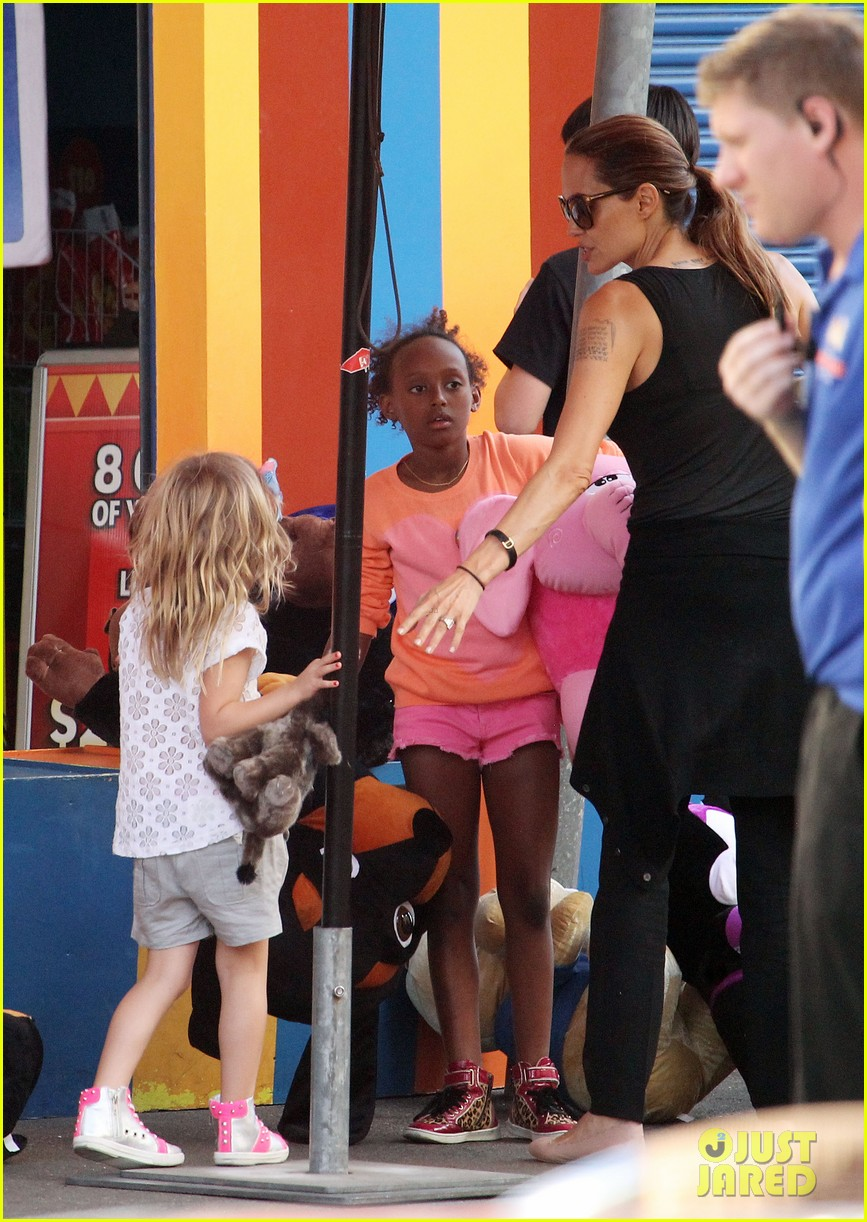 angelina jolie luna park fun with the kids 493024422