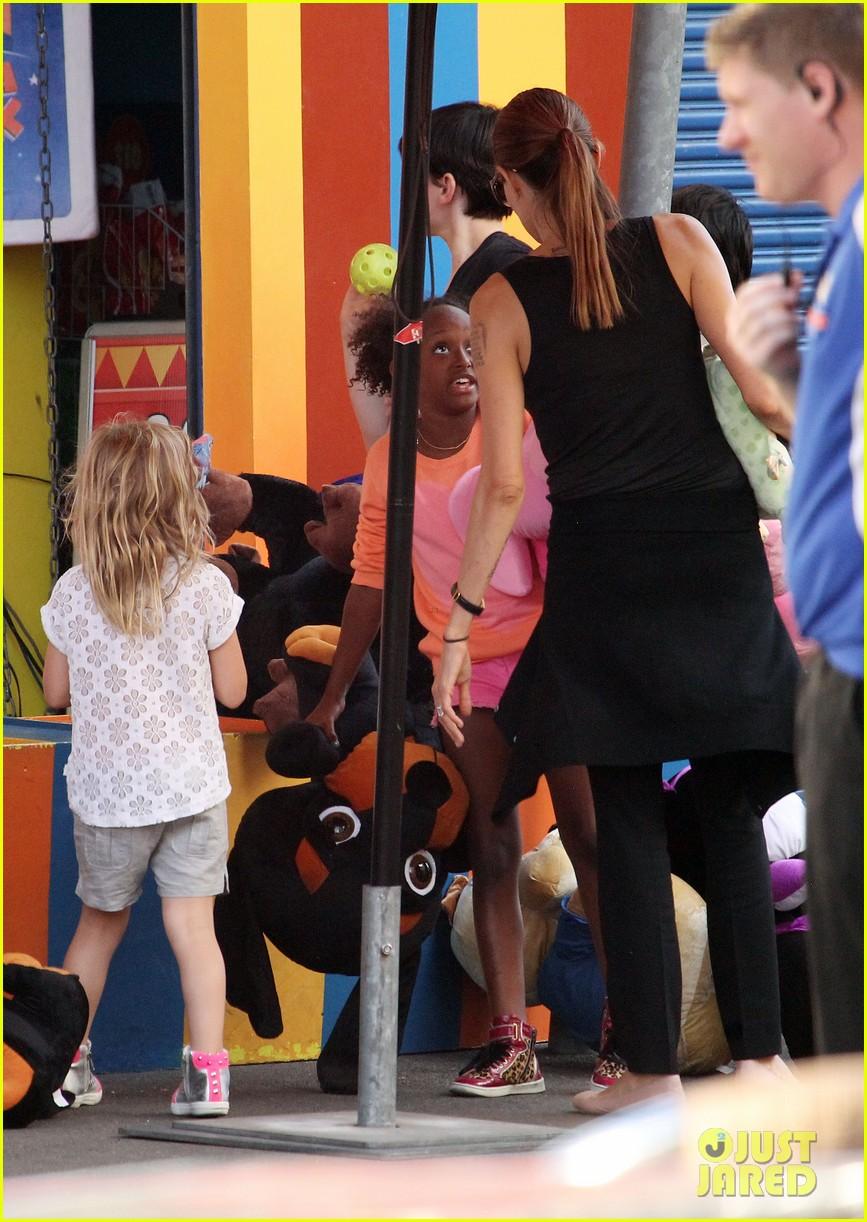 angelina jolie luna park fun with the kids 523024425