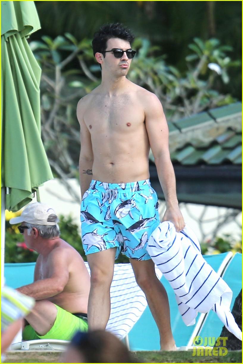 joe jonas shirtless beach frisbee player in hawaii 253023750