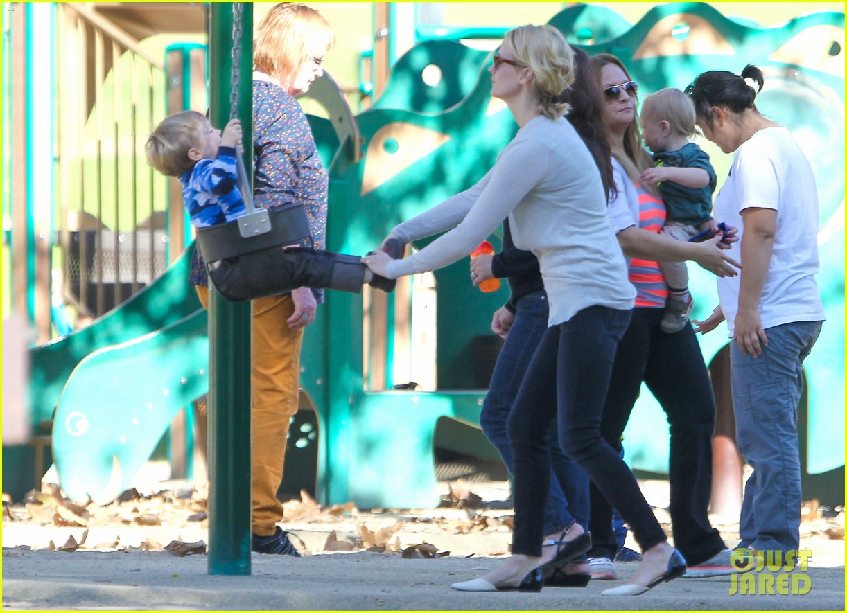 january jones joins instagram rides swings with xander 07