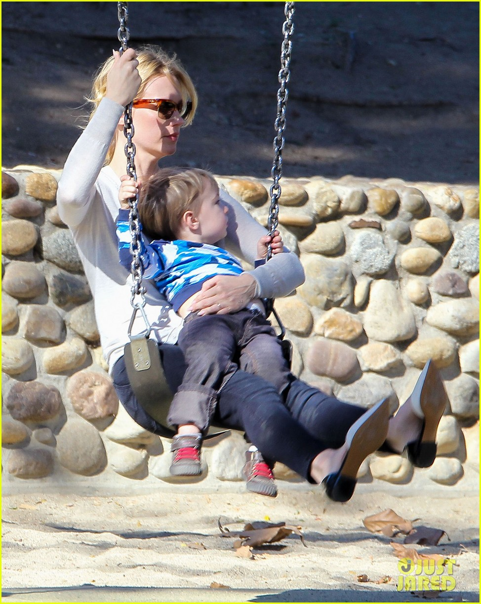 january jones joins instagram rides swings with xander 123039070